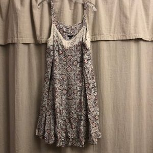 Torrid floral and lace dress